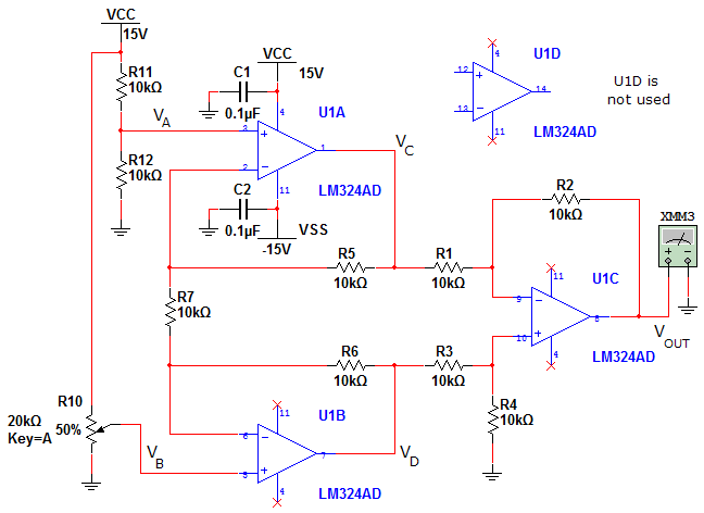 3. Using the resistor values in the circuit of Fig