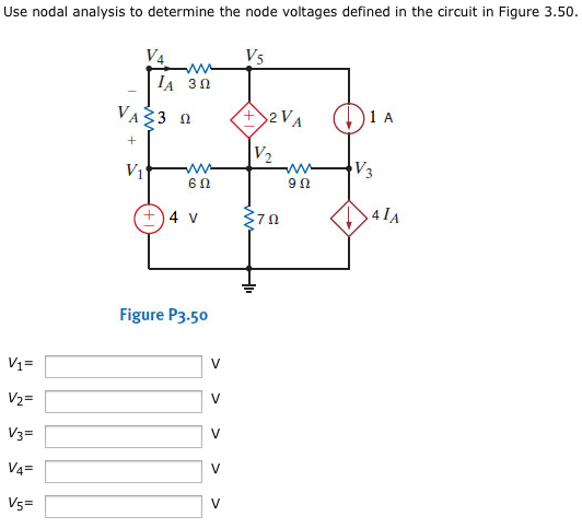 solved  use nodal analysis to determine the node voltages