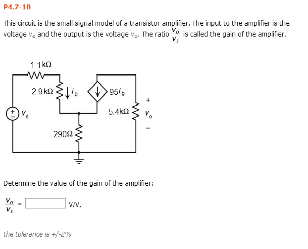 This circuit is the small signal model of a transi