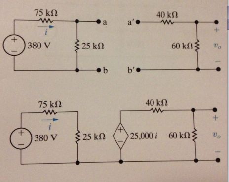 In the circuits shown below, the voltage divider c