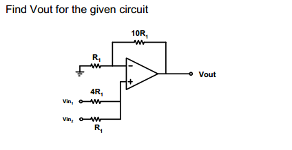 Find Vout for the given circuit