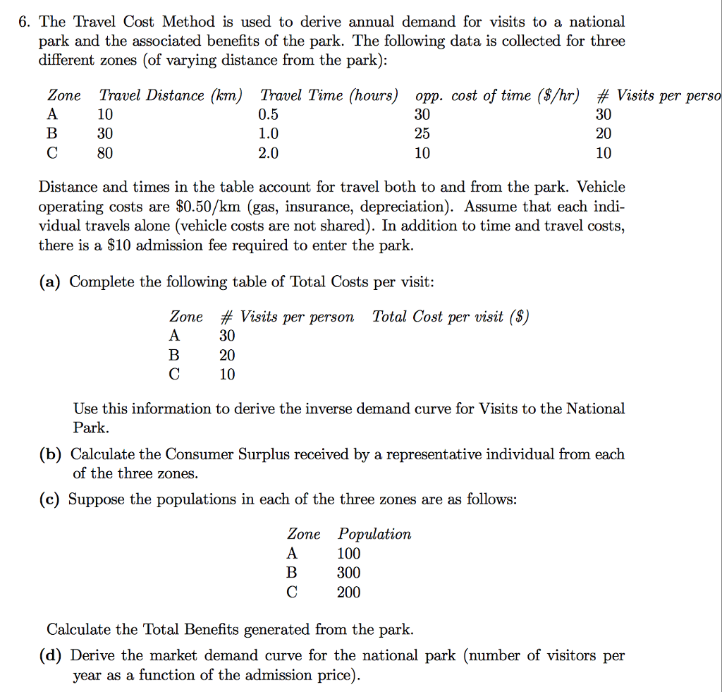 Solved the travel cost method is used to derive annual de for Operating costs of a motor vehicle answer key