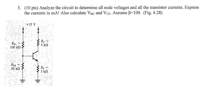 Analyze the circuit to determine all node voltages