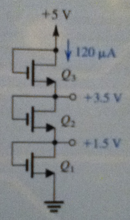 The NMOS transistors in the circuit of Fig. P5.51