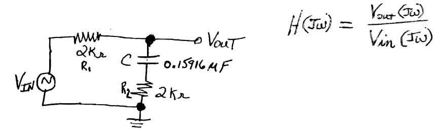 For the Following Circuit, Find the Transfer Funct
