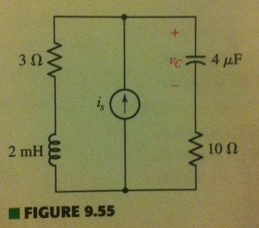 With regard to the circuit of Fig. 9.55, obtain