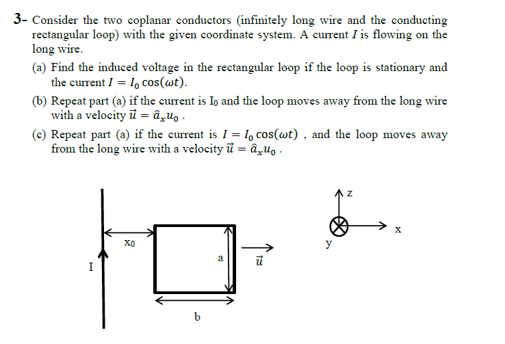 Consider the two coplanar conductors (infinitely l