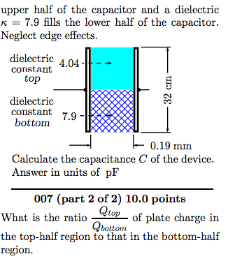 A capacitor is constructed from two square metal p