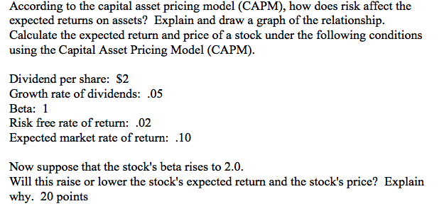 Calculate rate of return