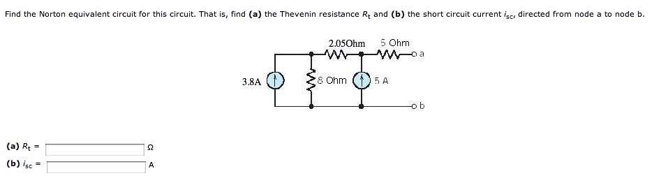 Find the Norton equivalent circuit for this circui