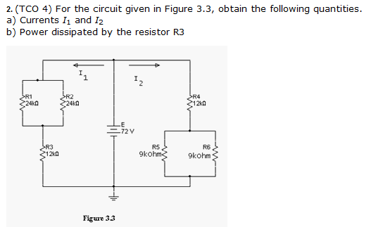 For the circuit given in Figure 3. 3, obtain the f