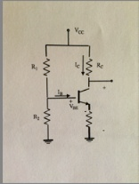 Using Figure 3, design a transistor bias network
