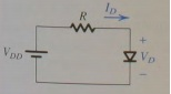 For the circuit in fig. 4.10, find Id and Vd for t
