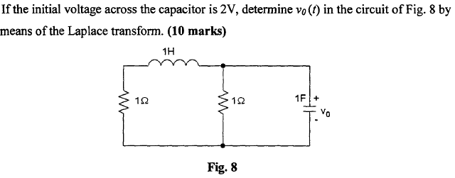 If the initial voltage across the capacitor is 2V,