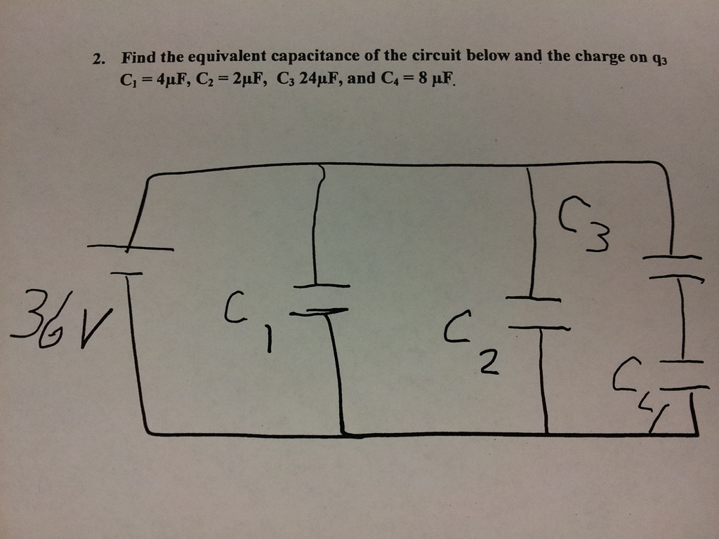 Find the equivalent capacitance of the circuit bel