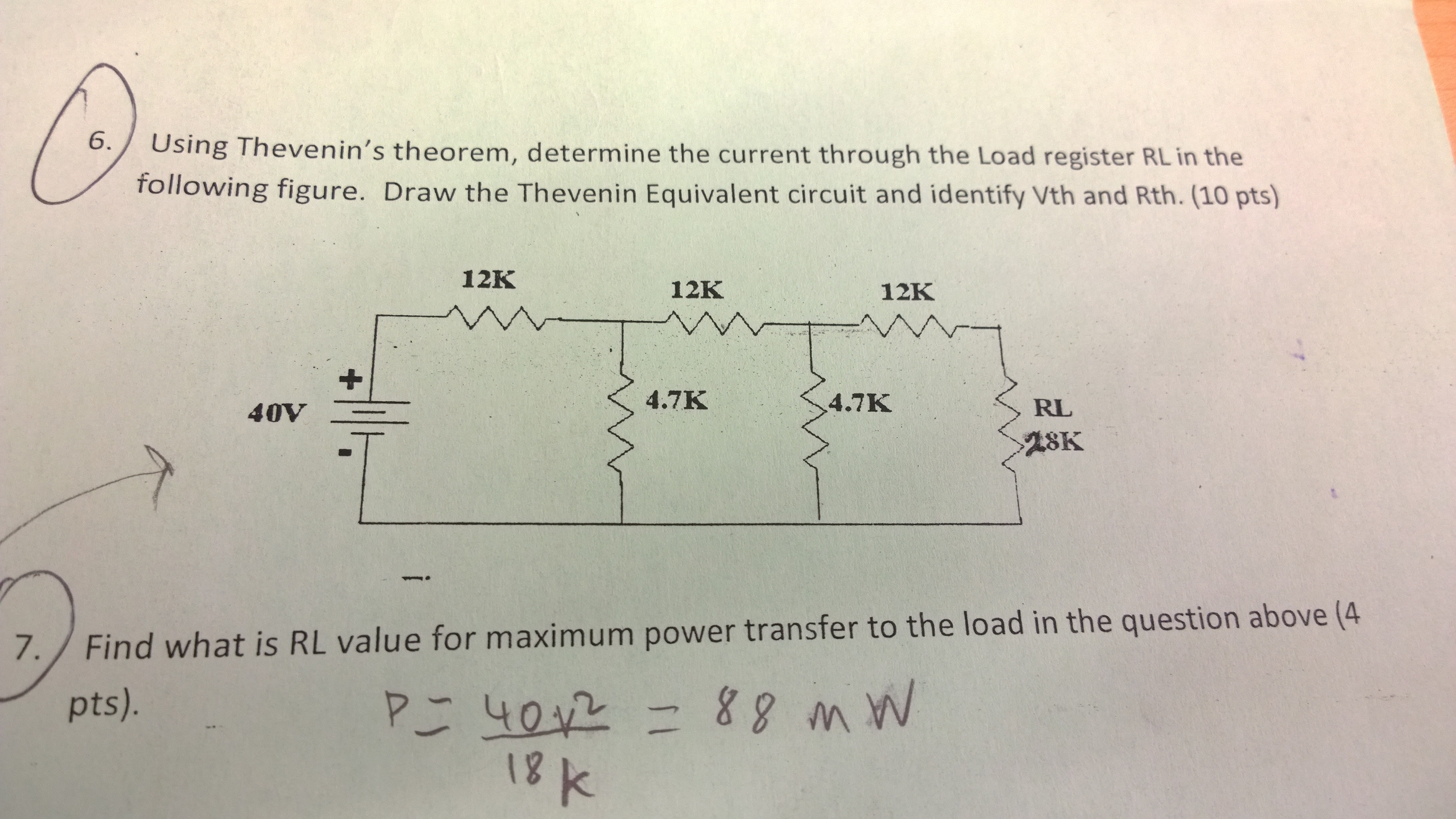 Snap Solved Thevenin S Equivalent Circuit To Find Current Io I Is B Circuits Thevenin39s Theorem Determine Thr