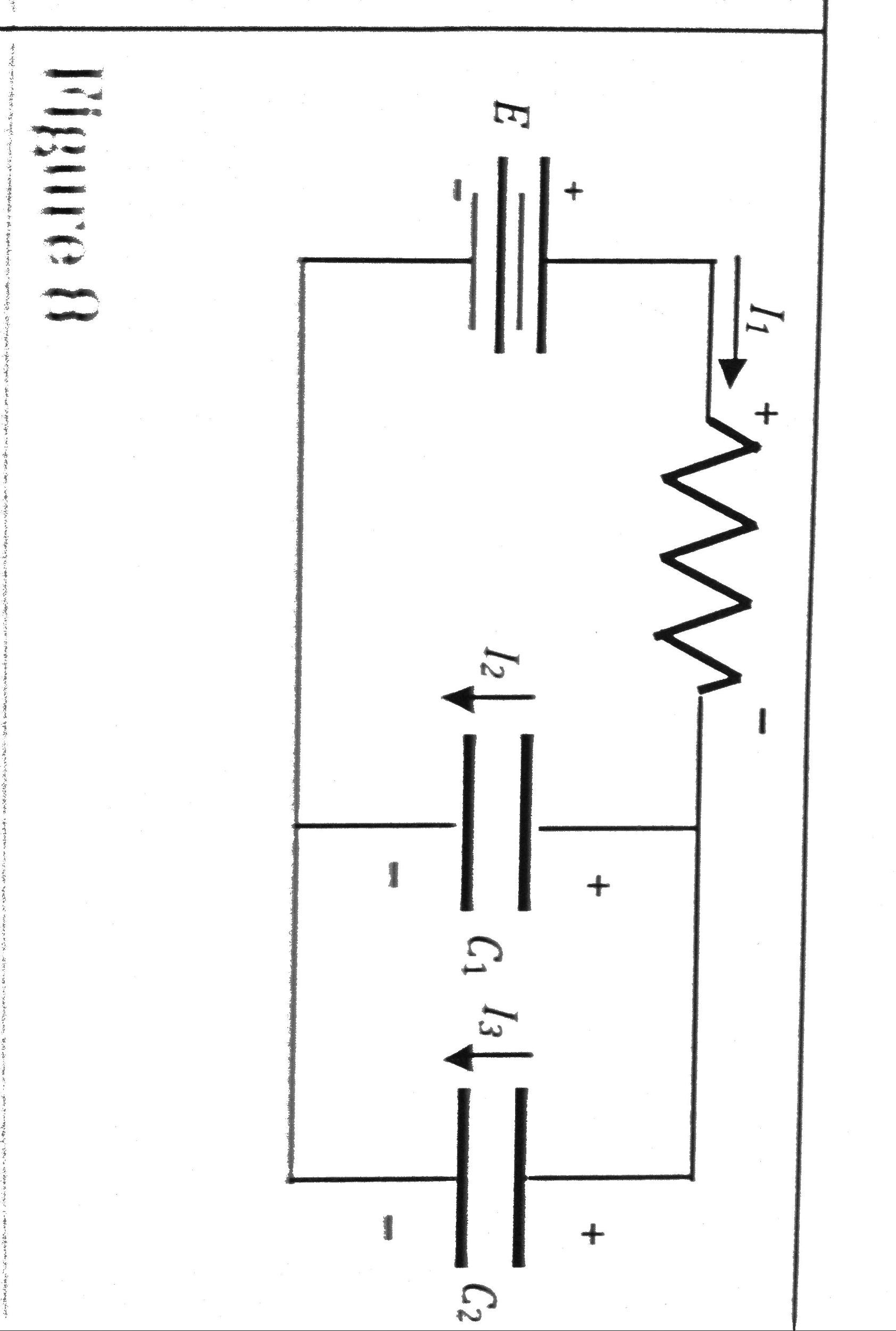 In Figure 8, E = +10V, R = 5 Ohms and C1 = C2 = 1C