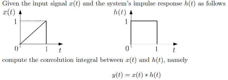 Given the input signal x(t) and the system's impul