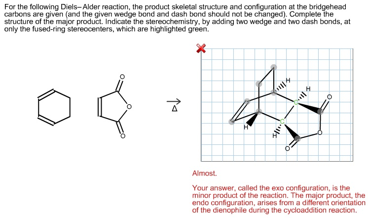 For the following Diels-Alder reaction, the produc