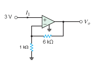 Image for Using the ideal op-amp assumptions, determine the values of (a) V0 and (b) I1 in the figure below.