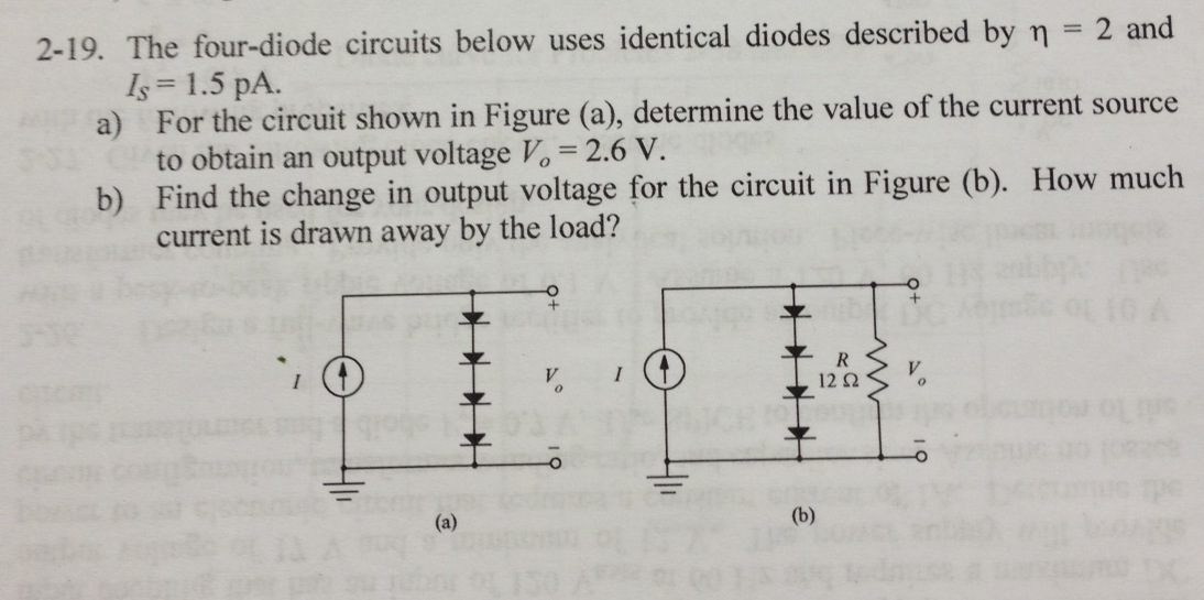 The four-diode circuits below uses identical diode