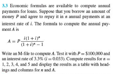 Economic formulas are available to compute annual