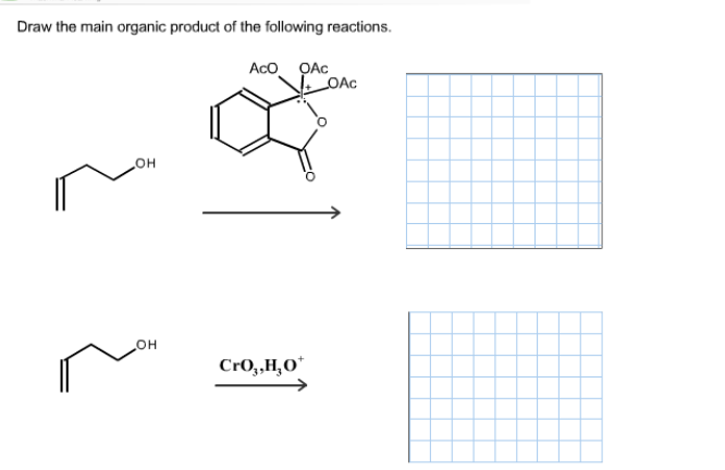 solved  draw the main organic product of the following rea
