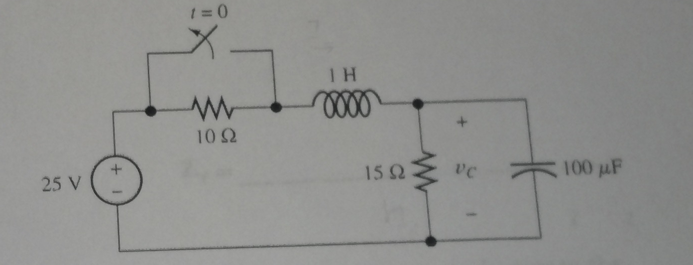 assume the switch is open and the circuit goes thr