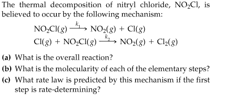The thermal decomposition of nitryl chloride, N02C