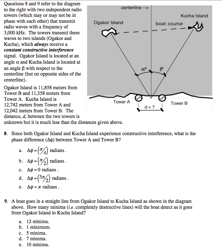 solved  questions 8 and 9 refer to the diagram to the righ