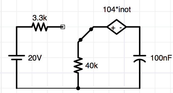 inot is the current throgh the capacitor. The circ