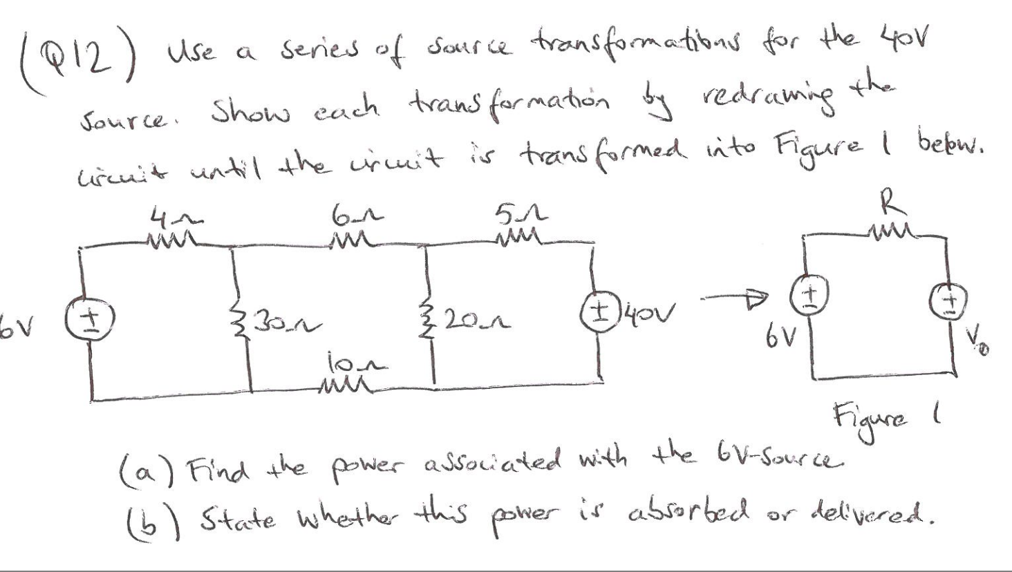 Use a series of source transformations for the 40V