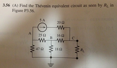 Find the Thevenin equivalent circuit as seen by RL