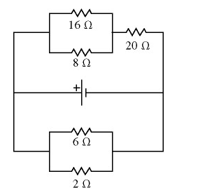 In Figure, the current of the circuit in the 8 ? r