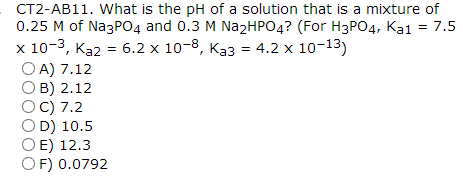 What is the pH of a solution that is a mixture of