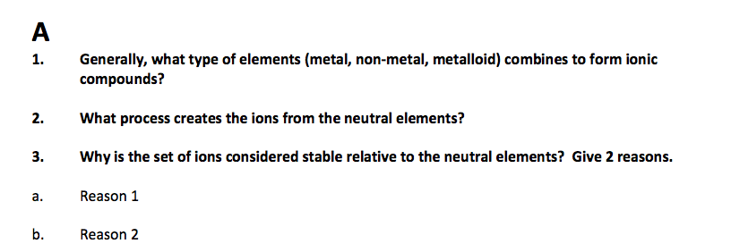Generally, What Type Of Elements (metal, Non-metal... | Chegg.com