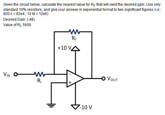 Given the circuit below, calculate the nearest val
