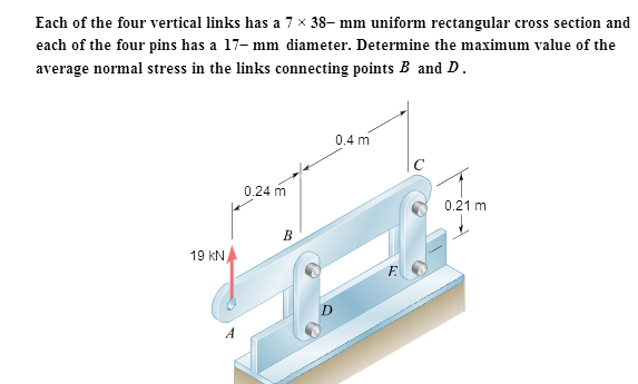 Each of the four vertical links has a 7 times 38-