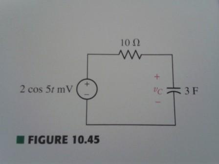 Find the steady-state voltage Vc(t) as indicated i