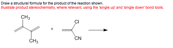 Draw a structural formula for the product of the r