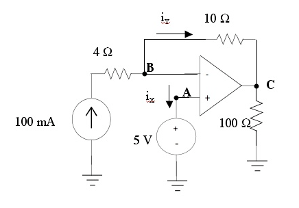 In the circuit above, what are the values of the n