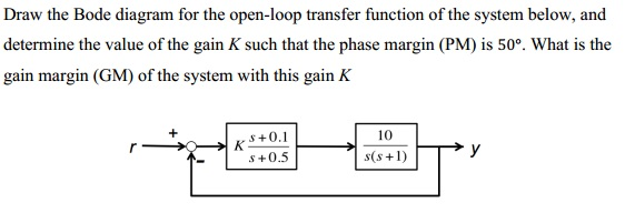 Draw The Bode Diagram For The Open