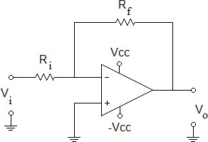 Determine the output voltage Vo if Rf = 100 k Ohms