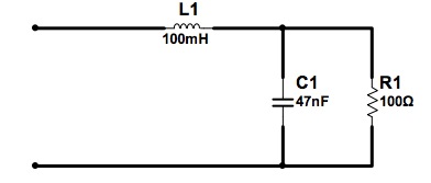 Find the impedance of the network shown in Figure