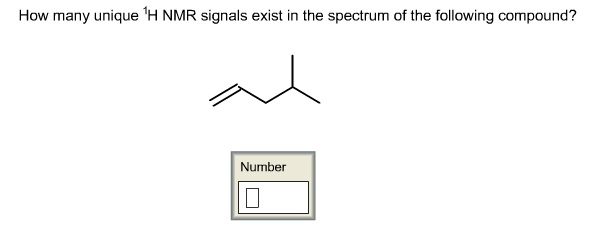 How many unique 1H NMR signals exist in the spectr