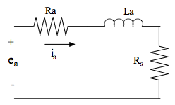 Compute the voltage drop across Rs in the circuit