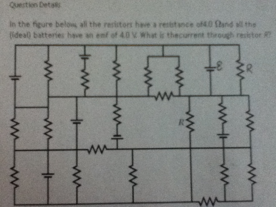 Question is: In the figure below, all the resistor