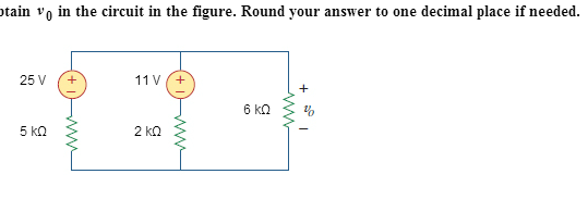 Obtain VQ in the circuit in the figure. Round your