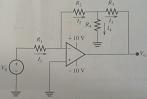 Find the formula for the voltage gain for the ampl