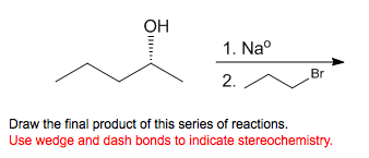 Draw the final product of this series of reactions